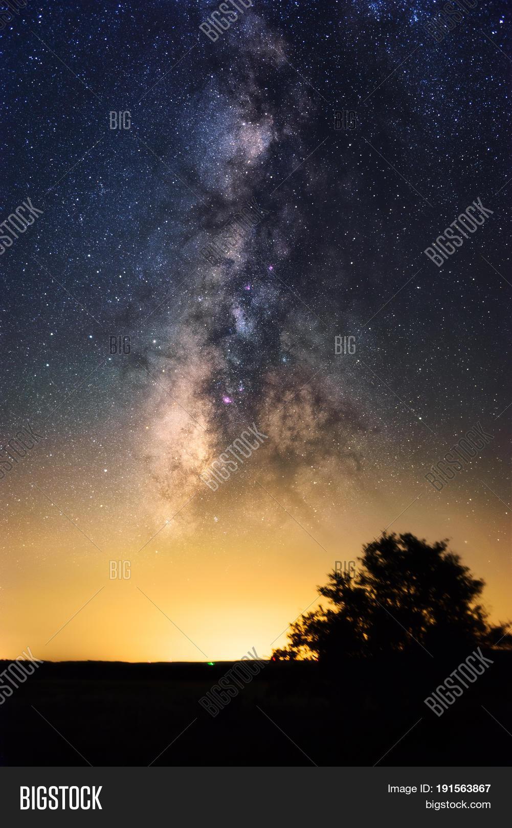 Milky Way Close Yellow Image & Photo (Free Trial) | Bigstock