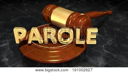 Parole Legal Concept 3D Illustration