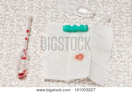 Express Hiv Test Using Blood From A Finger Macro