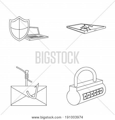 Hacker, system, connection .Hackers and hacking set collection icons in outline style vector symbol stock illustration .