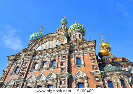 Savior on Spilled Blood Cathedral in St.Petersburg Russia.