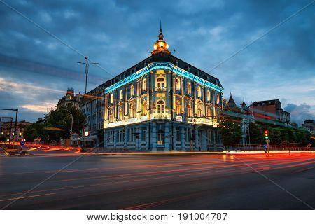 Popular Landmark in the city centre in Varna naval hotel.