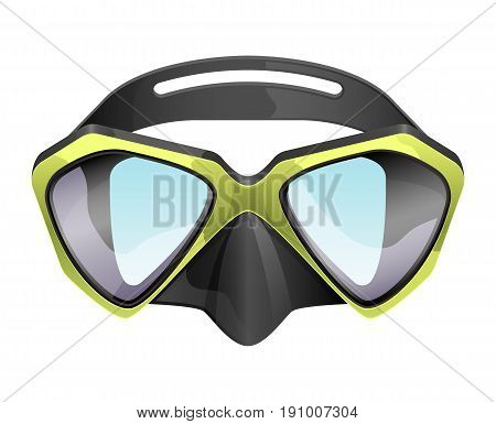 professional diving mask snorkeling vector isolated on white background.