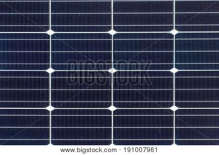 Overhead Close View Of Solar Cells