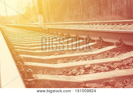 Railway for the train summer vocation concept vocation