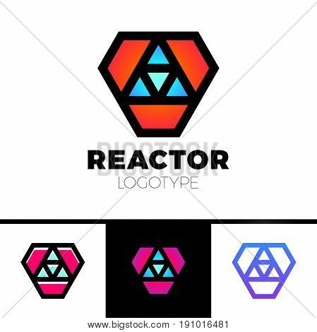 Triangle Logotype Or Trinity Arrow Reactor Logo.
