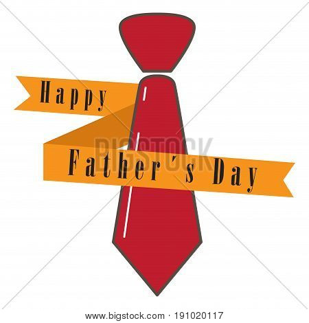 Isolated necktie and a ribbon, Father Day vector illustration