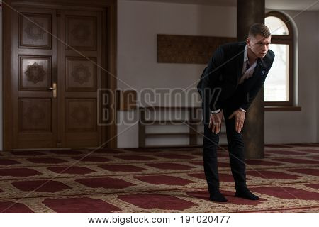 Young Businessman Muslim Praying