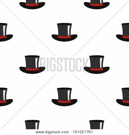 Silk hat pattern seamless flat style for web vector illustration