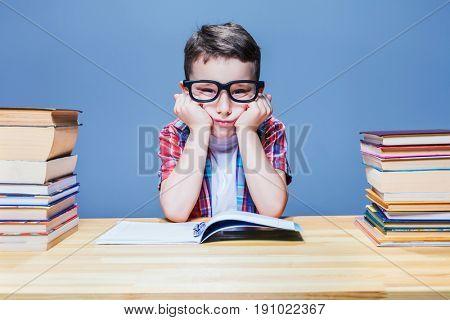 First grade child learns homework