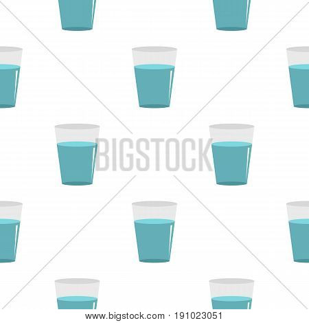 Glass water pattern seamless flat style for web vector illustration