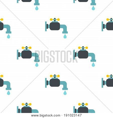 Water tap pattern seamless flat style for web vector illustration