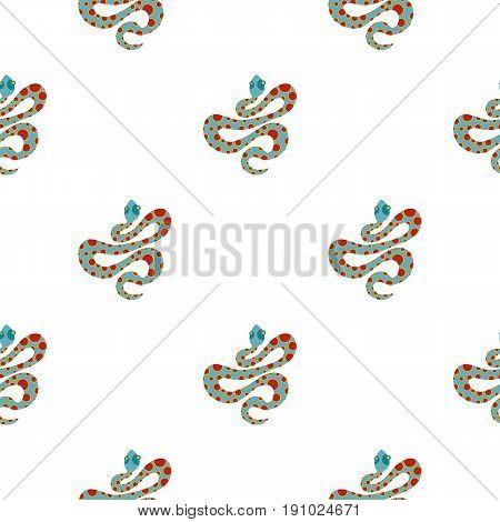 Light blue snake with orange spots pattern seamless flat style for web vector illustration