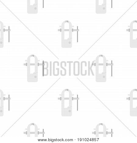 Blacksmiths vice pattern seamless flat style for web vector illustration