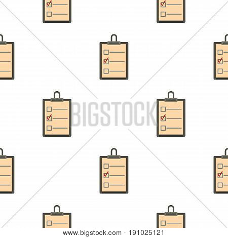 Checklist with box and red mark pattern seamless flat style for web vector illustration