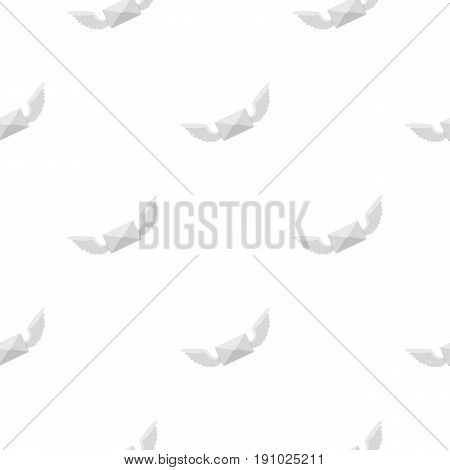 White envelope with two wings pattern seamless flat style for web vector illustration