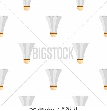 Shuttlecock for playing badminton pattern seamless flat style for web vector illustration