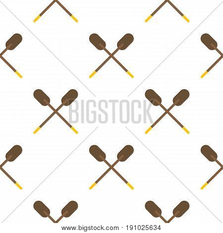 Two wooden crossed oars pattern seamless flat style for web vector illustration