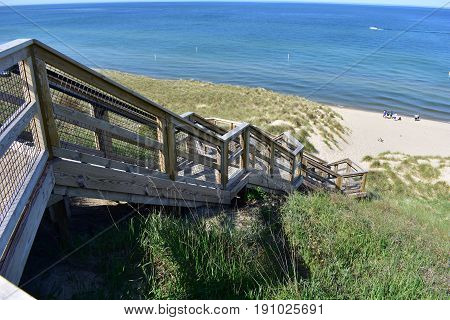 Tunnel Park Dune Stairway - This photo was taken in Holland Michigan
