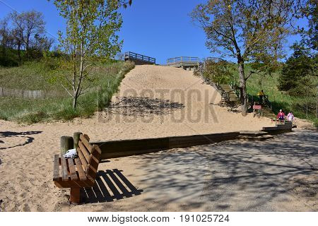 The Sand Hill at Tunnel Park  - This photo was taken in Holland Michigan