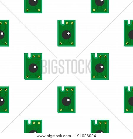 Processor chip pattern seamless flat style for web vector illustration