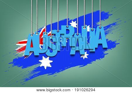 The Word Australia Hang On The Ropes