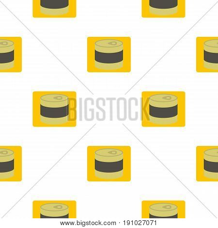 Closed tin can pattern seamless flat style for web vector illustration