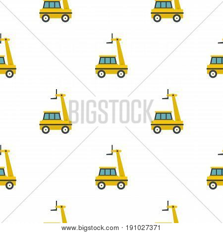 Yellow cherry picker pattern seamless flat style for web vector illustration