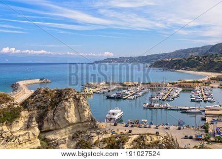 The Tourist Port of Tropea is a beautiful marina on the Tyrrhenian Coast - Calabria Italy, 24 October 2011
