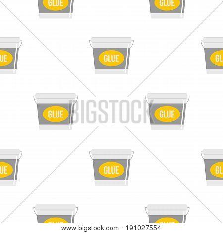 Glue bucket pattern seamless flat style for web vector illustration
