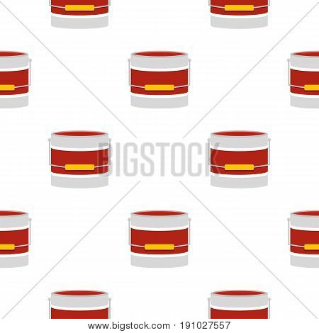 Red paint bucket pattern seamless flat style for web vector illustration