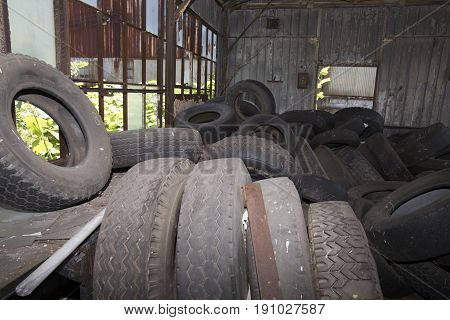 Tires In Old Workroom