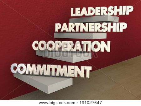 Leadership Partnership Collaboration Commitment Steps 3d Illustration.jpg