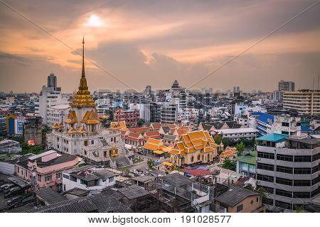 Bangkok - May 24: Temple Names Wat Traimitr And Pra Maha Mondop, Very Important And Beautiful Temple