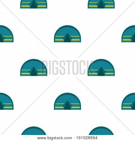 Blue touristic camping tent pattern seamless flat style for web vector illustration