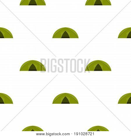 Green tent for camping pattern seamless flat style for web vector illustration