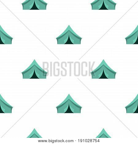 Turquoise tent pattern seamless flat style for web vector illustration