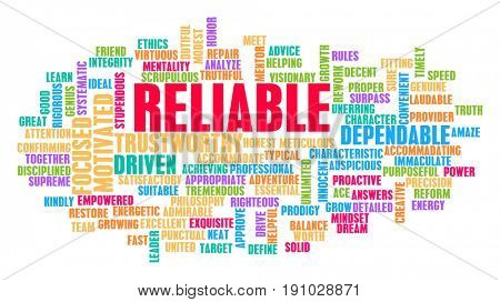 Reliable Word Cloud Concept on White