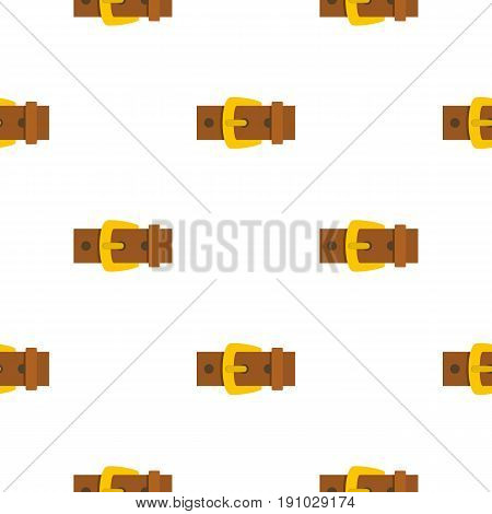 Gold buckle pattern seamless flat style for web vector illustration