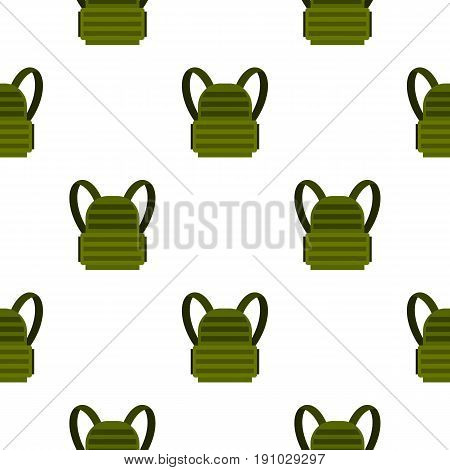 Military backpack pattern seamless flat style for web vector illustration
