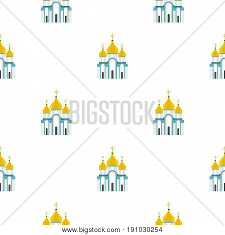 Orthodox church pattern seamless flat style for web vector illustration