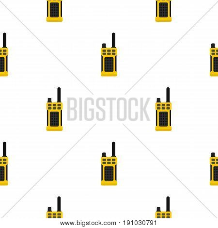 Portable radio transmitter pattern seamless flat style for web vector illustration