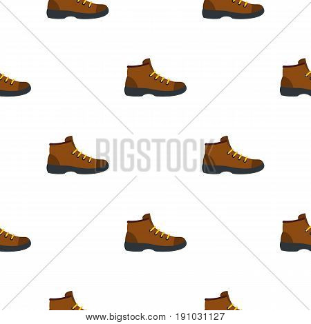 Hiking boot pattern seamless flat style for web vector illustration