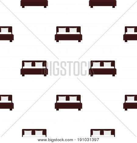 Double bed pattern seamless flat style for web vector illustration