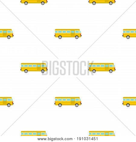 Bus pattern seamless flat style for web vector illustration