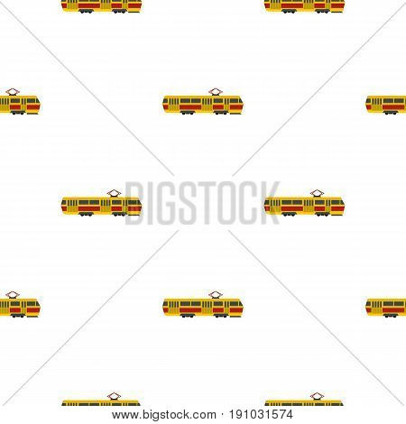 Tram pattern seamless flat style for web vector illustration