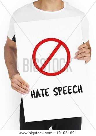 Stop Icon Social Negative Words