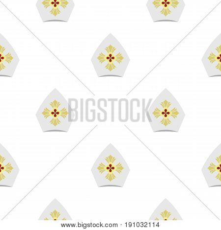 Catholic hat pattern seamless flat style for web vector illustration