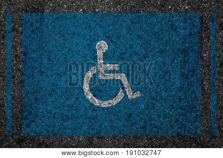 Reserved Car Park Slot With Disability Sign Icon People Drive Parking, Disabled Or Handicap People D