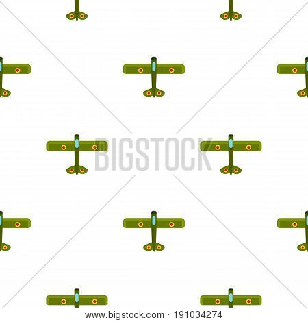 Army biplane pattern seamless flat style for web vector illustration